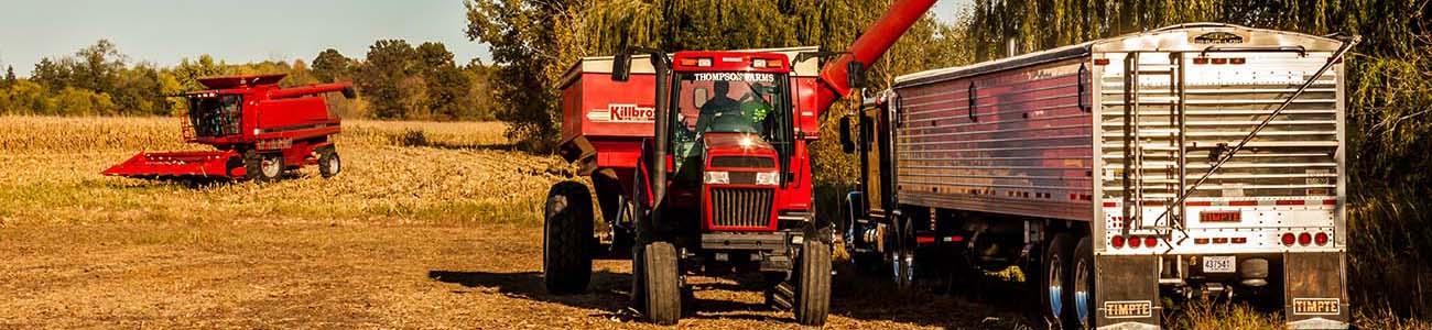 combine tractor truck hayfield minnesota